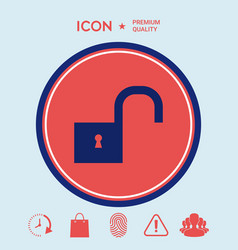 unlock icon vector image