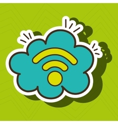 Wi-fi internet online cloud vector