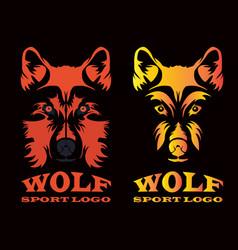 wolf sport logo vector image