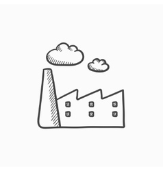Factory sketch icon vector image
