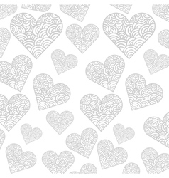 Hearts pattern card background icon vector
