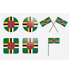 Commonwealth of dominica flag badge vector