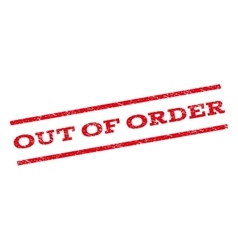 Out of order watermark stamp vector