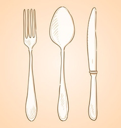 Rough cutlery vector