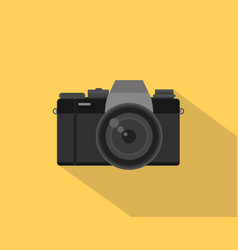 Mirrorless camera picture with black vector