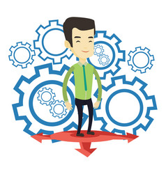 Man choosing career way vector