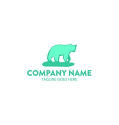 bear logo-2 vector image