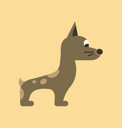 flat icon on background dog smiles vector image