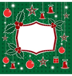 Christmas Decorations And Banner vector image