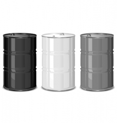 Metal barrels vector