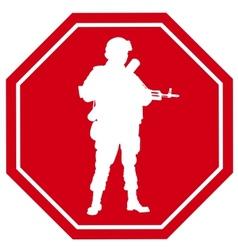 Stop war sign vector image