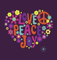 Love peace joy vector image