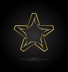 Abstract luxury golden star on black background vector