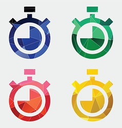 Timer icon abstract triangle vector