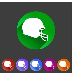 Football helmet flat icon sign symbol logo label vector