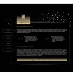 Black website vector