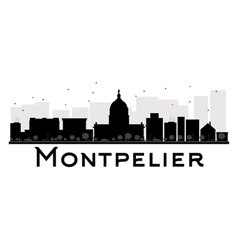 Montpelier silhouette vector