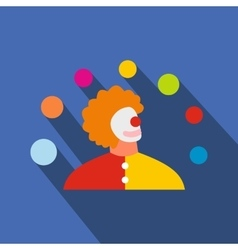Juggler man flat icon vector