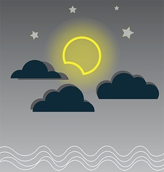130715Night cloudy sky vector image