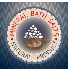 Badge template with text mineral bath salts vector