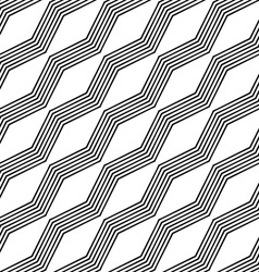 Monochrome seamless zigzag line pattern vector
