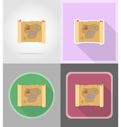 Pirate flat icons 15 vector