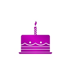 Birthday cake web icon vector