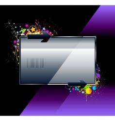Splash glossy banner vector