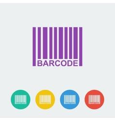 barcpde flat circle icon vector image vector image