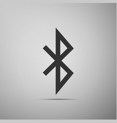 bluetooth sign icon isolated on grey background vector image vector image