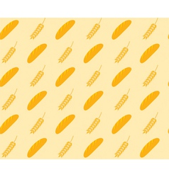 Bread and wheat pattern vector