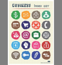 Business web icons set drawn by chalk vector image vector image