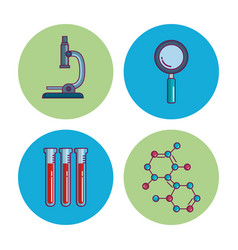 Chemistry science poster icon vector