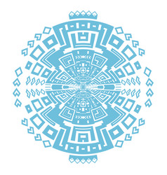 circular decorative geometric ethnic pattern vector image vector image