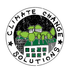Climate change buildings vector