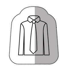 contour tie with shirt icon vector image vector image