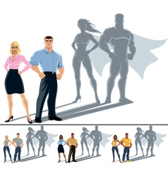 Couple superhero concept vector