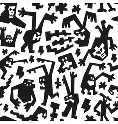 evil monsters - seamless background vector image