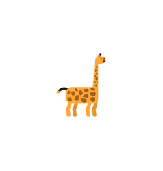 flat giraffe element of flat vector image