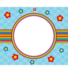 floral and decorative rainbow frame vector image vector image