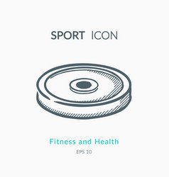 iron weight icon on white background vector image vector image