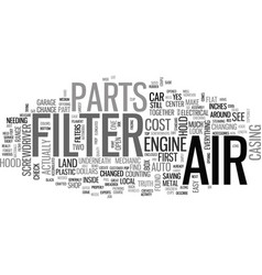Is your air filter filthy text background word vector