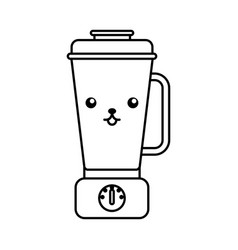 kawaii blender cartoon vector image