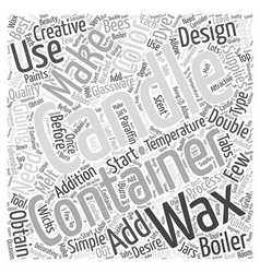 Making container candles word cloud concept vector