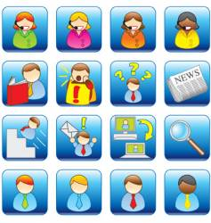 office web icons vector image vector image