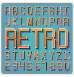 Retro type font vintage typography vector image vector image