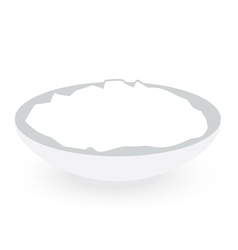 rice bowl isolated on white background vector image