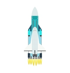 rocket isolated on white vector image vector image