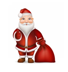 Santa Claus and a bag of gifts vector image
