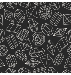 Seamless pattern with geometric crystals and vector image